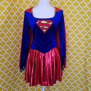 AWESOME ADULT SUPERGIRL COSTUME W/DETACHABLE CAPE